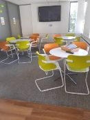 7 x Sets of Canteen Table and Chairs (7 tables & 28 Chairs)