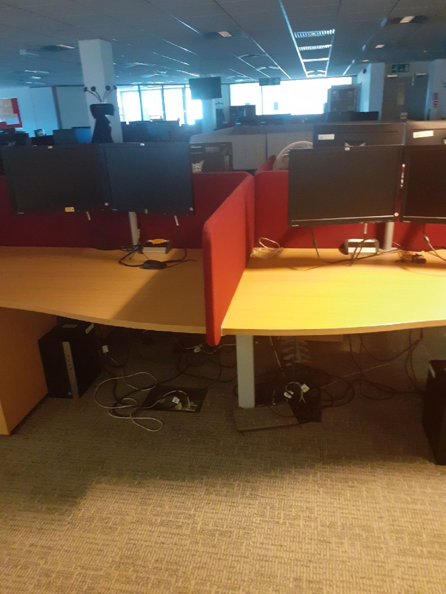 1 x Bank of 6 office desk/workstations & 3 x Banks of 8 office desks/workstations. - Image 2 of 3