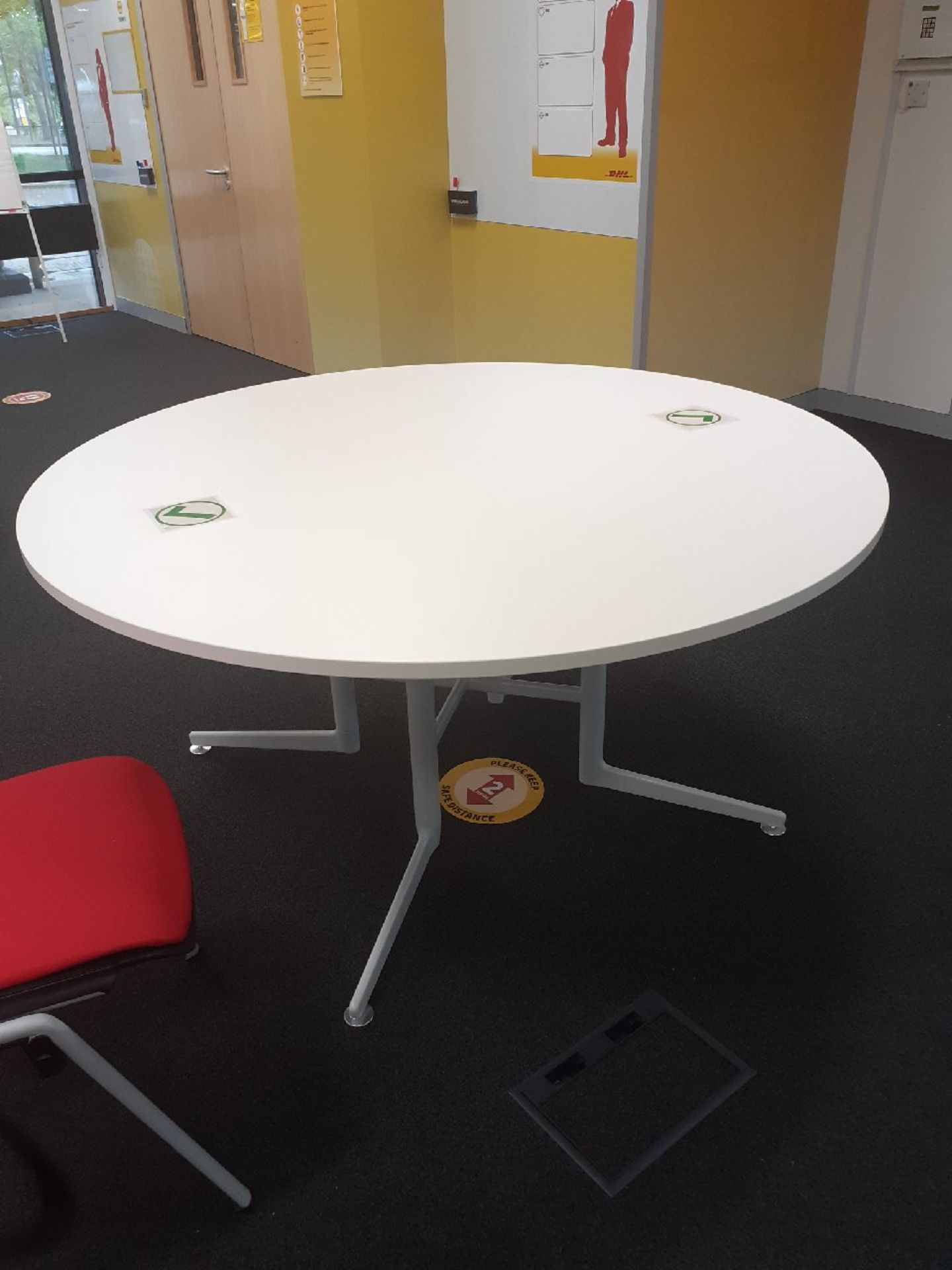 5 x Round Tables ideal for canteens/meeting rooms.