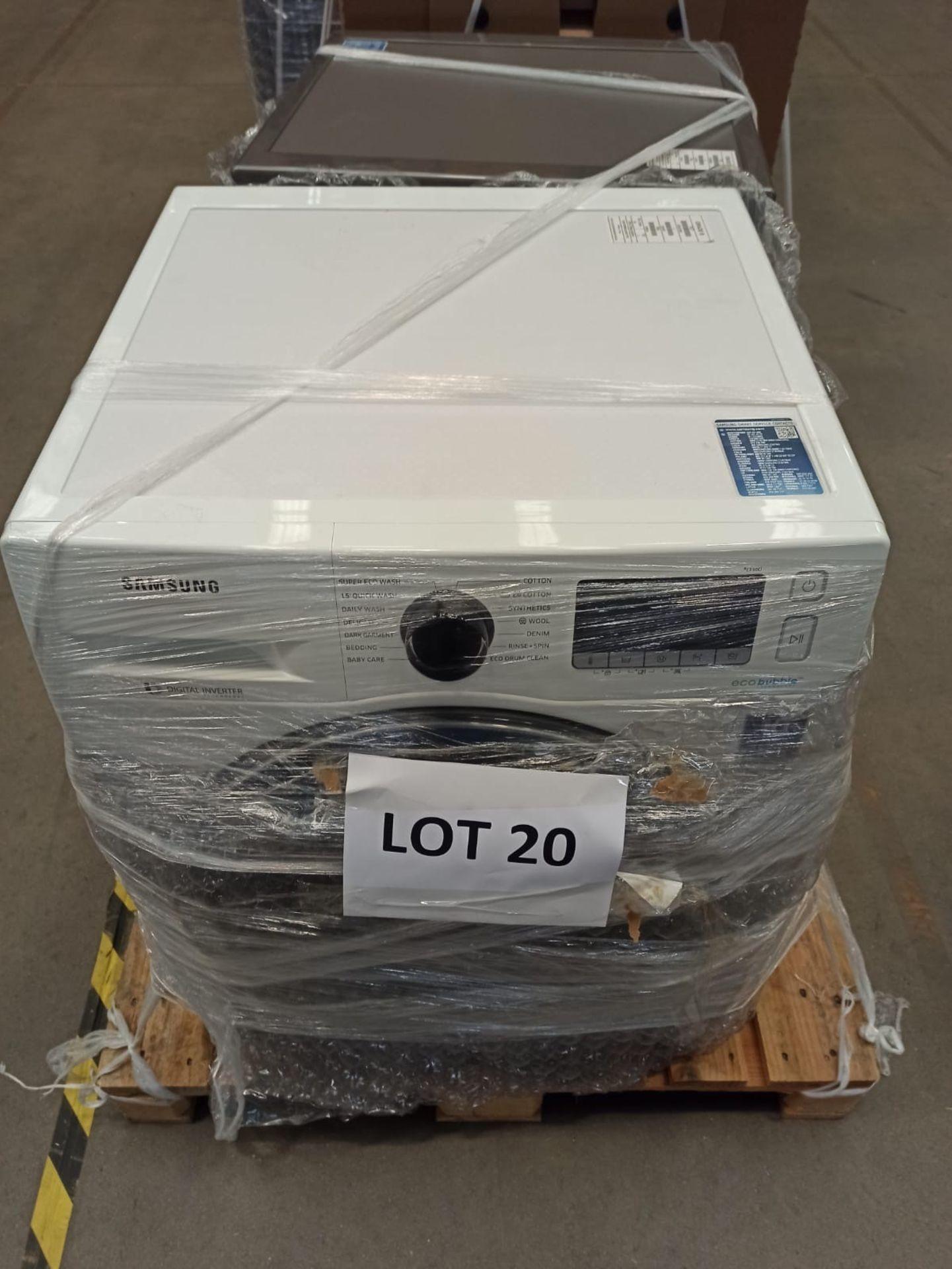 Pallet of 2 Samsung Premium Washing machines. Latest selling price £738 - Image 5 of 8