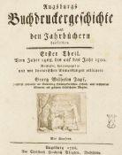 Buchwesen.– Augsburg.– G.W.Zapf.