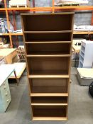 1 BESPOKE DESIGNER LARGE WOODEN BOOKSHELF (PUBLIC VIEWING AVAILABLE)