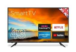 "1 BOXED AND UNTESTED CELLO 43"" 4K UHD ANDROID SMART TV / DAMAGES TO THE SCREEN / RRP £249.00 (PUBLIC"