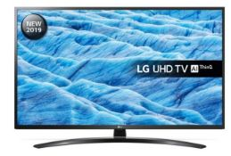 "1 BOXED AND UNTESTED LG 55"" UHD TV AI THINQ - 55UM74 / DAMAGES TO THE SCREEN / RRP £429.99 (PUBLIC"