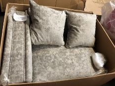 1 BOXED CHESSINGTON SOFA IN TRUFFLE - NOTE ITEM ONLY INCLUDES LEFT HALF OF THE SOFA (PUBLIC