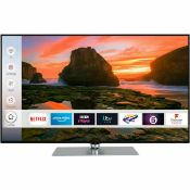 "1 UNTESTED TECHWOOD 49"" SMART TV / SCREEN DAMAGE AND NO REMOTE / RRP £279.00 (PUBLIC VIEWING"