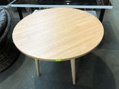1 BESPOKE DESIGNER WOODEN DINING TABLE (PUBLIC VIEWING AVAILABLE)