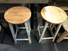 1 SET OF 2 BESPOKE DESIGNER KITCHEN STOOLS (PUBLIC VIEWING AVAILABLE)