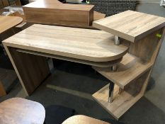 1 BESPOKE DESIGNER WOODEN DESK WITH ROTATING END (PUBLIC VIEWING AVAILABLE)