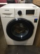 1 LOT TO CONTAIN 1 SAMSUNG ECO BUBBLE WASHING MACHINE WW80J5555FW 8KG 1400 SPIN / RRP £369.00 (