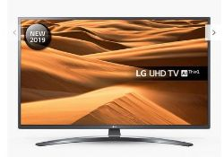 "1 BOXED TESTED AND WORKING LG 49"" UHD TV AI THINQ - 49UM74 / THE PICTURE FLICKERS ON AND OFF /"