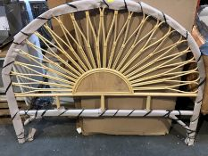 1 BESPOKE DESIGNER LARGE WOOD HEADBOARD (PUBLIC VIEWING AVAILABLE)