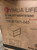1 BOXED YIHAU LIFE SCARTLETT NIGHTSTAND IN MAPLE - YHUK 1901-040 (PUBLIC VIEWING AVAILABLE)