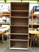 1 BESPOKE DESIGNER BOOKCASE IN BROWN (PUBLIC VIEWING AVAILABLE)