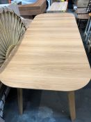 1 BESPOKE DESIGNER DINING TABLE IN NATURAL (PUBLIC VIEWING AVAILABLE)