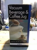 1 BOXED VACUUM BEVERAGE AND COFFEE JUG - WHITE (PUBLIC VIEWING AVAILABLE)