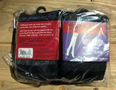 1 LOT TO CONTAIN 50 SPANX SOCKS IN BLACK/GREY / SIZE REGULAR / STYLE 2304 / RRP £900.00 (PUBLIC