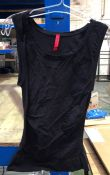 1 LOT TO CONTAIN 2 SPANX TOPS IN BLACK / SIZE 1X / STYLE 983P / RRP £136.00 (PUBLIC VIEWING