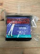 1 LOT TO CONTAIN 50 SPANX TOPLESS TROUSER SOCKS IN BITTER SWEET / SIZE REGULAR / STYLE 010F / RRP £