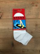 1 LOT TO CONTAIN 50 SPANX SOCKS IN WHITE / SIZE ONE SIZE / STYLE 103 / RRP £500.00 (PUBLIC VIEWING