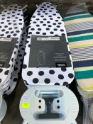 1 LOT TO CONTAIN 5 X IRONING BOARDS PUBLIC VIEWING AVAILABLE & HIGHLY RECOMMENDED - IMAGES ARE FOR