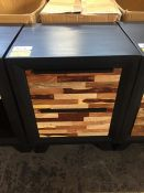 GRADE A NERO MIXED WOOD DRAWER BEDSIDE TABLE RRP £215 PUBLIC VIEWING AVAILABLE & HIGHLY