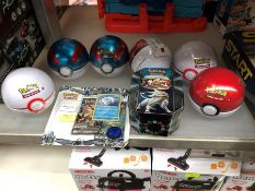 1 LOT TO CONTAIN POKEMON TOYS TO INCLUDE 6 X TRADING GAME CARD PUBLIC VIEWING AVAILABLE & HIGHLY