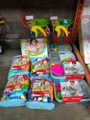 1 LOT TO INCLUDE KID CONNECTION BLOCKS BAG AND SINK PLAYSET PUBLIC VIEWING AVAILABLE & HIGHLY