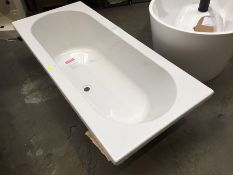 1700X750 DOUBLE ENDED ACRYLIC BATH. RRP £300 (PUBLIC VIEWING AVAILABLE AND HIGHLY RECOMMENDED -