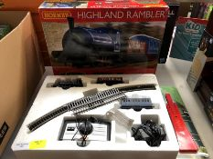 1 LOT TO CONTAIN HORNBY HIGHLAND RAMBLER TRAIN SET PUBLIC VIEWING AVAILABLE & HIGHLY RECOMMENDED -