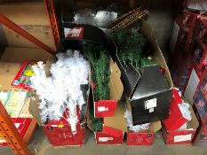 1 LOT TO CONTAIN APPROX 7 X MIXED CHRISTMAS TREES PUBLIC VIEWING AVAILABLE & HIGHLY RECOMMENDED -