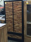 GRADE A NERO MIXED WOOD DOUBLE WARDROBE RRP £855 PUBLIC VIEWING AVAILABLE & HIGHLY RECOMMENDED -