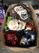 1 LOT TO CONTAIN A LARGE BOX OF MIXED HALLOWEEN MASKS PUBLIC VIEWING AVAILABLE & HIGHLY