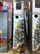 1 LOT TO CONTAIN 6 X MIXED CHRISTMAS TREES PUBLIC VIEWING AVAILABLE & HIGHLY RECOMMENDED - IMAGES