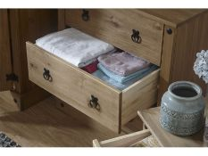 1 BOXED INCA 3 DRAWER CHEST IN MEXICAN WAXED PINE (PUBLIC VIEWING AVAILABLE)