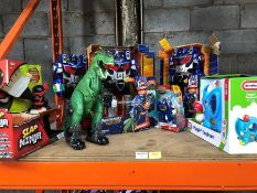 1 LOT TO CONTAIN AN ASSORTMENT OF MIXED TOYS / INCLUDING ADVENTURE FORCE ROBOTS PUBLIC VIEWING
