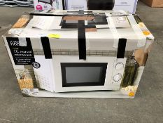 1 LOT TO CONTAIN 700W 17L MANUAL MICROWAVE PUBLIC VIEWING AVAILABLE & HIGHLY RECOMMENDED - IMAGES