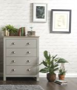 1 BOXED LANCASTER 4 DRAW CHEST IN GREY (PUBLIC VIEWING AVAILABLE)