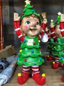1 LOT TO CONTAIN 3X CHRISTMAS TREE GARDEN GNOMES PUBLIC VIEWING AVAILABLE & HIGHLY RECOMMENDED -