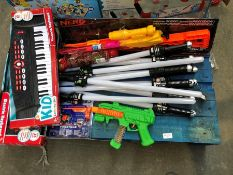 1 LOT TO CONTAIN AN ASSORTMENT OF TOYS TO INCLUDE NERF GUN PUBLIC VIEWING AVAILABLE & HIGHLY