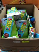 1 LOT TO CONTAIN BOX OF LITTLE TIKES MY FIRST REMOTE CONTROL PUBLIC VIEWING AVAILABLE & HIGHLY