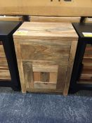 GRADE A BOSS MANGO LIGHT BEDSIDE TABLE RRP £155 PUBLIC VIEWING AVAILABLE & HIGHLY RECOMMENDED -