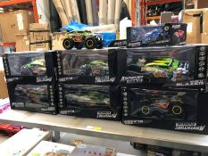 1 LOT TO CONTAIN AN ASSORTMENT OF MIXED ADVENTURE FORCE RC CARS PUBLIC VIEWING AVAILABLE & HIGHLY