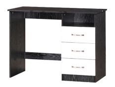 1 BOXED MARINA DRESSING TABLE IN BLACK/WHITE GLOSS (PUBLIC VIEWING AVAILABLE)