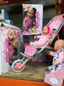 1 LOT TO CONTAIN AN ASSORTMENT OF BABY DOLLS / INCLUDING LOVER BELLA PRODUCTS PUBLIC VIEWING