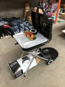 1 LOT TO INCLUDE UNIFLAME PORTABLE GAS GRILL AND STAND ALONE BBQ PUBLIC VIEWING AVAILABLE & HIGHLY