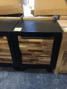 GRADE A NERO MIXED WOOD BEDSIDE TABLE RRP £210 PUBLIC VIEWING AVAILABLE & HIGHLY RECOMMENDED -