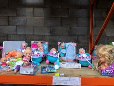 1 LOT TO CONTAIN AN ASSORTMENT OF BABY DOLLS PUBLIC VIEWING AVAILABLE & HIGHLY RECOMMENDED -