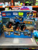 1 BOXED LEGO CITY 3-IN-1 SUPER PACK PUBLIC VIEWING AVAILABLE & HIGHLY RECOMMENDED - IMAGES ARE FOR