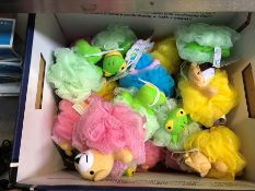 1 LOT TO CONTAIN AN ASSORTMENT OF POOFIE PALS BATH CLEANING TOY PUBLIC VIEWING AVAILABLE & HIGHLY